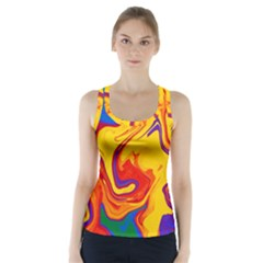 Gay Pride Swirled Colors Racer Back Sports Top