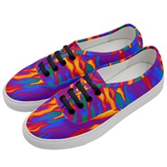 Gay Pride Abstract Smokey Shapes Women s Classic Low Top Sneakers by VernenInkPride