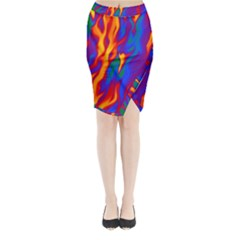 Gay Pride Abstract Smokey Shapes Midi Wrap Pencil Skirt by VernenInkPride