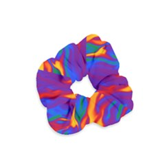 Gay Pride Abstract Smokey Shapes Velvet Scrunchie by VernenInkPride
