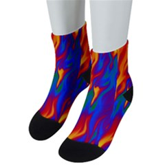 Gay Pride Abstract Smokey Shapes Men s Low Cut Socks by VernenInkPride