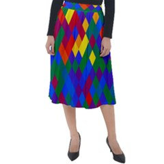 Gay Pride Diagonal Pixels Design Classic Velour Midi Skirt