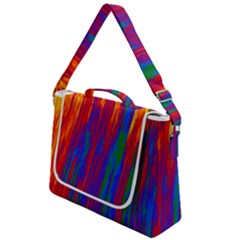Gay Pride Rainbow Vertical Paint Strokes Box Up Messenger Bag
