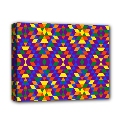 Gay Pride Geometric Diamond Pattern Deluxe Canvas 14  X 11  (stretched)