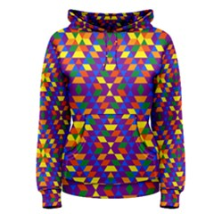 Gay Pride Geometric Diamond Pattern Women s Pullover Hoodie by VernenInkPride