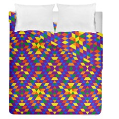 Gay Pride Geometric Diamond Pattern Duvet Cover Double Side (queen Size)