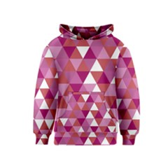 Lesbian Pride Alternating Triangles Kids  Pullover Hoodie