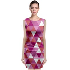 Lesbian Pride Alternating Triangles Classic Sleeveless Midi Dress