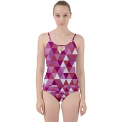 Lesbian Pride Alternating Triangles Cut Out Top Tankini Set by VernenInkPride