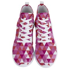 Lesbian Pride Alternating Triangles Men s Lightweight High Top Sneakers