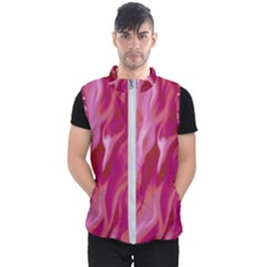 Lesbian Pride Abstract Smokey Shapes Men s Puffer Vest by VernenInkPride