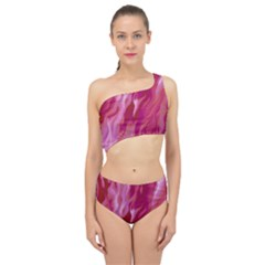 Lesbian Pride Abstract Smokey Shapes Spliced Up Two Piece Swimsuit