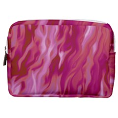 Lesbian Pride Abstract Smokey Shapes Make Up Pouch (medium) by VernenInkPride