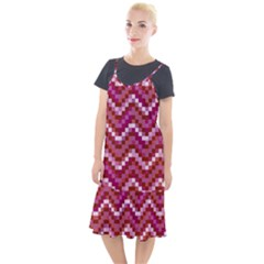 Lesbian Pride Pixellated Zigzag Stripes Camis Fishtail Dress by VernenInkPride