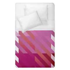 Lesbian Pride Diagonal Stripes Colored Checkerboard Pattern Duvet Cover (single Size) by VernenInkPride