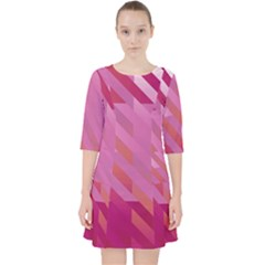Lesbian Pride Diagonal Stripes Colored Checkerboard Pattern Pocket Dress by VernenInkPride