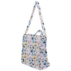Watercolor Floral Seamless Pattern Crossbody Backpack