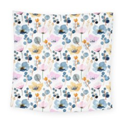 Watercolor Floral Seamless Pattern Square Tapestry (large)