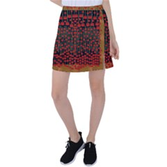 Summer  Flowers In A Floral Jungle Ornate Tennis Skirt