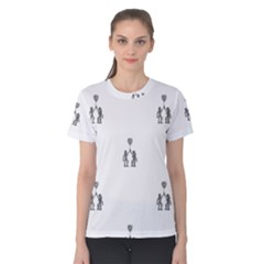 Love Symbol Drawing Women s Cotton Tee