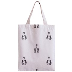 Love Symbol Drawing Zipper Classic Tote Bag