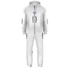 Love Symbol Drawing Hooded Jumpsuit (men)