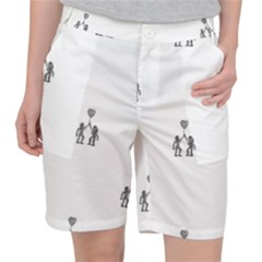 Love Symbol Drawing Pocket Shorts