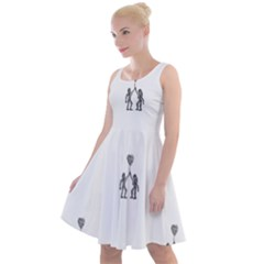 Love Symbol Drawing Knee Length Skater Dress