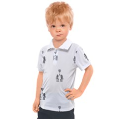 Love Symbol Drawing Kids  Polo Tee