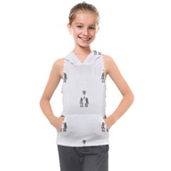 Love Symbol Drawing Kids  Sleeveless Hoodie