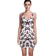 Sakura Blossoms On White Color Bodycon Dress by pepitasart