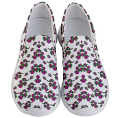 Sakura Blossoms On White Color Men s Lightweight Slip Ons by pepitasart