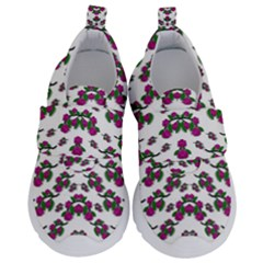 Sakura Blossoms On White Color Kids  Velcro No Lace Shoes by pepitasart