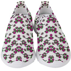 Sakura Blossoms On White Color Kids  Slip On Sneakers by pepitasart
