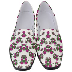 Sakura Blossoms On White Color Women s Classic Loafer Heels by pepitasart
