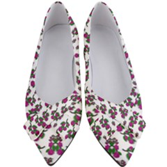 Sakura Blossoms On White Color Women s Bow Heels by pepitasart