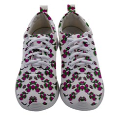 Sakura Blossoms On White Color Athletic Shoes by pepitasart