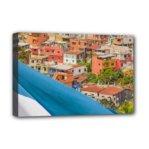 Santa Ana Hill, Guayaquil Ecuador Deluxe Canvas 18  X 12  (stretched) by dflcprintsclothing