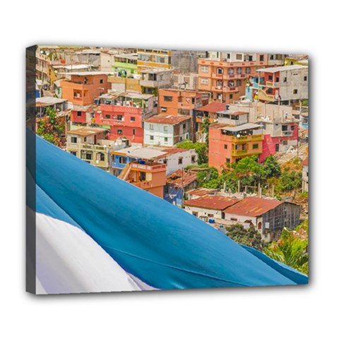 Santa Ana Hill, Guayaquil Ecuador Deluxe Canvas 24  X 20  (stretched)