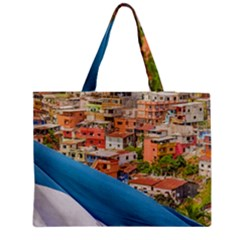Santa Ana Hill, Guayaquil Ecuador Zipper Medium Tote Bag
