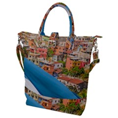 Santa Ana Hill, Guayaquil Ecuador Buckle Top Tote Bag