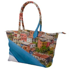 Santa Ana Hill, Guayaquil Ecuador Canvas Shoulder Bag by dflcprintsclothing