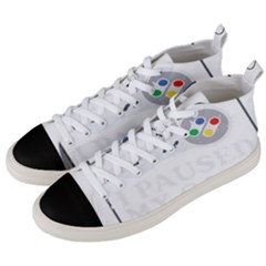 Ipaused2 Men s Mid-top Canvas Sneakers by ChezDeesTees