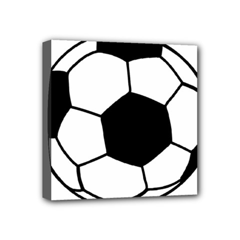 Soccer Lovers Gift Mini Canvas 4  X 4  (stretched) by ChezDeesTees
