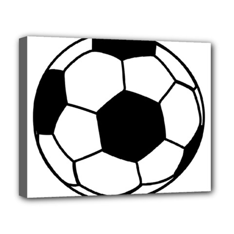Soccer Lovers Gift Deluxe Canvas 20  X 16  (stretched) by ChezDeesTees