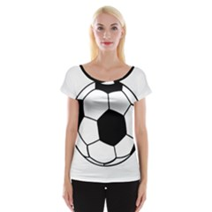 Soccer Lovers Gift Cap Sleeve Top by ChezDeesTees