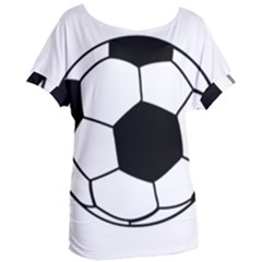 Soccer Lovers Gift Women s Oversized Tee by ChezDeesTees