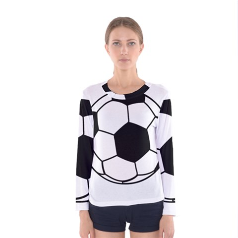 Soccer Lovers Gift Women s Long Sleeve Tee by ChezDeesTees