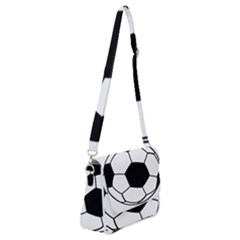 Soccer Lovers Gift Shoulder Bag With Back Zipper by ChezDeesTees