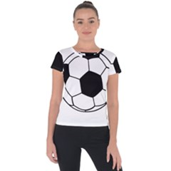 Soccer Lovers Gift Short Sleeve Sports Top  by ChezDeesTees